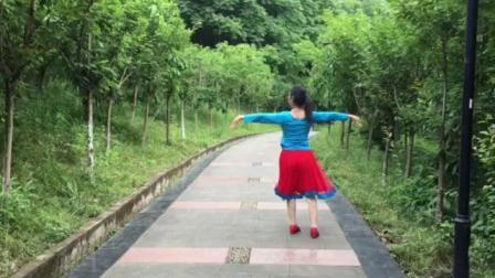姐妹广场舞《站着等你三千年》编舞,花与影