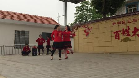 双龙镇千古石河村打石河广场舞-痴迷舞友队