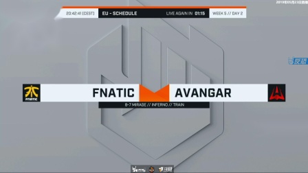 Fnatic vs Avavgar ECS S7常规赛 BO3 第一场 5.22