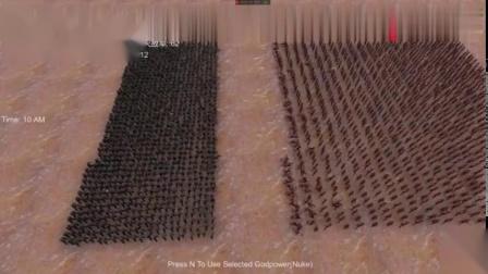 史诗战争模拟-用1000把98K能不能吊打1000个古代弓箭手