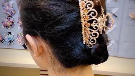 张太太时尚盘发器抓夹大号发抓子发夹发卡顶夹马尾夹卡子头饰品女