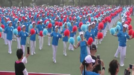 雨中荷上传8月8日全民健身日一千三百个唐山姑娘跳《唐山姑娘》