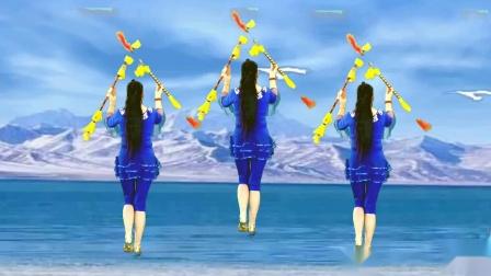 13步花棍舞教程分解 焦陂百和广场舞慢动作教程女驸马