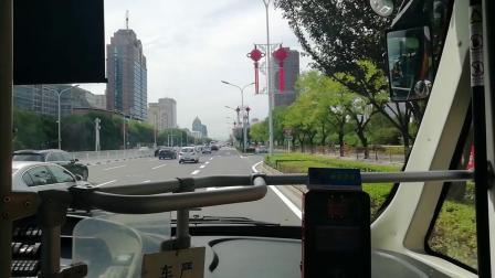 北京公交1路、四惠枢纽站—老山公交场站、行走过程
