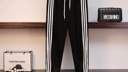 君晓天云大尺码女装2019秋季运动休闲套装印花厚棉T裤子两件套胖mm显瘦秋装女