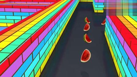 吃豆人在迷宫里闯关吃水果!