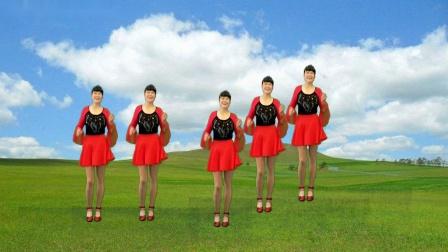 焦陂百和简单好学广场舞《康定情歌》正背面附教学32步