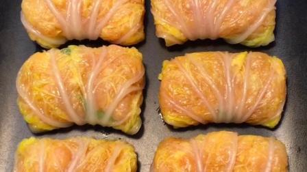 """家人今天给大家带来的美食教程是""""白菜卷肉"""""""