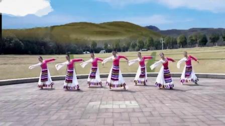 点击观看中老年健身藏族舞教程《陪你到地老天荒》午后骄阳广场舞视频