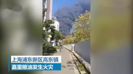 突发!上海嘉里粮油发生火灾,现场浓烟滚滚