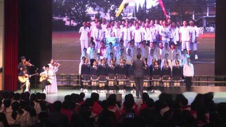 青岛五十八中2019年校园合唱节--高一·8班:《夜空中最亮的星》
