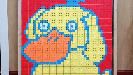 魔方拼图:可达鸭魔方墙