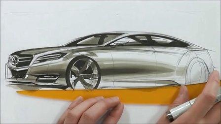 汽车手绘马克笔快速表现教学视频32
