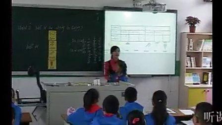 外研版小学英语《Unit2 Will it be windy in Beijing》优质课教学视频