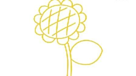 美丽的向日葵简笔画教程