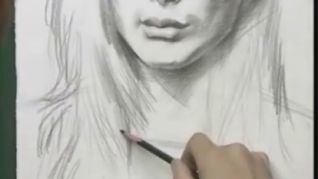 素描女模肖像写生入门