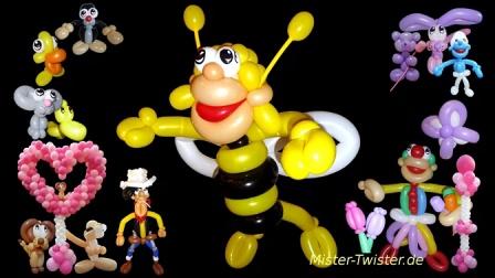 小也魔术气球教程-人头大蜜蜂