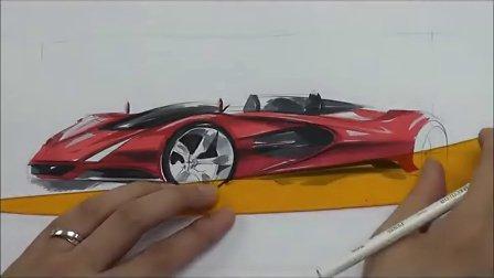 汽车设计马克笔手绘快速绘制