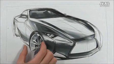 汽车设计马克笔分享展示