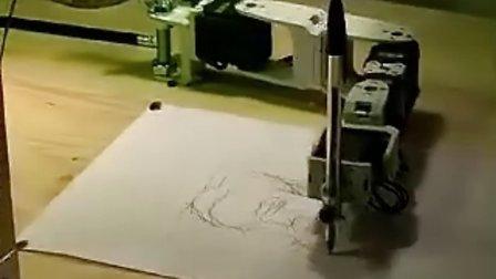 素描结构图,然后再命令蛇形机器人通过机构图开始