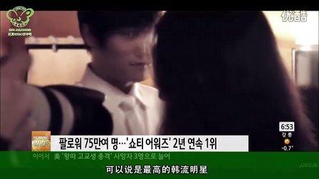 [在吧字幕]120229 SBS news 金在中肖蒂奖最高明星