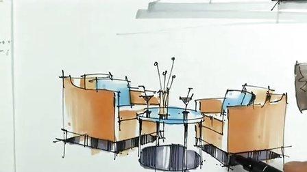 马生讲师-室内手绘单体示范-广州疯狂手绘培训视频教程