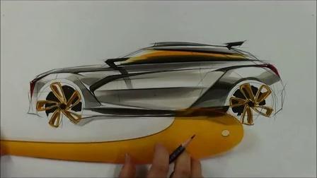 seok汽车设计马克笔手绘上色视频教程