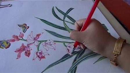 彩铅手绘花朵步骤图解