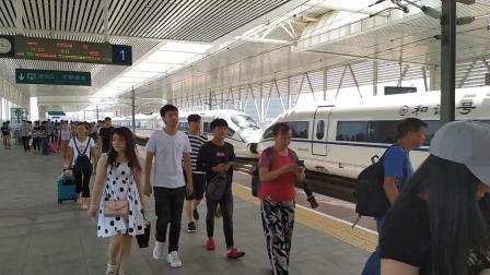 2019年7月18日,G6204次(深圳北站—广州北站)本务中国铁路广州局集团有限公司广州动车段长沙动车所CRH3C-3068+3064光明城站通过