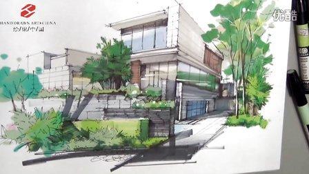 郑州绘聚中国手绘培训—徐志伟别墅外观设计表现