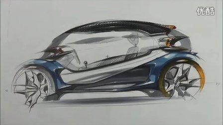 汽车手绘马克笔快速表现教学视频9