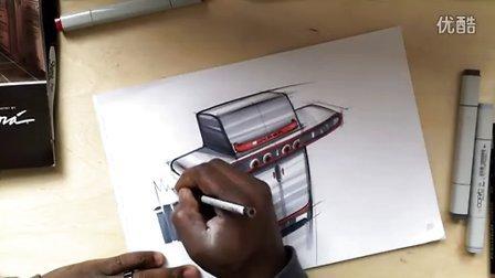 产品设计马克笔手绘效果图视频教程系列1