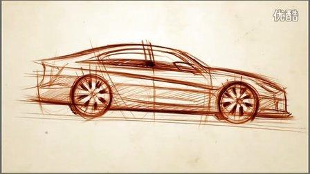 汽车侧视图设计如何手绘表达视频教程