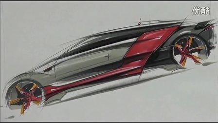 seok汽车设计马克笔手绘视频教程3