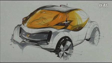 sangwon seok汽车设计马克笔手绘视频教程4