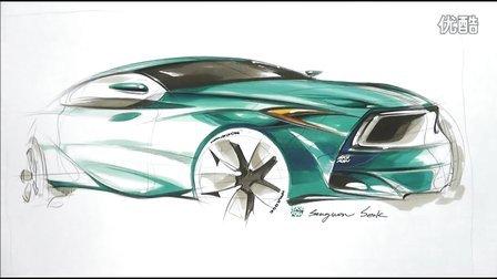 宝马m1汽车概念设计及马克笔上色手绘视频