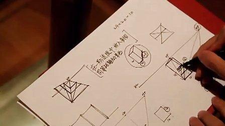 产品设计手绘系列基础教学—在一点透视中画出多个同等距离的东西