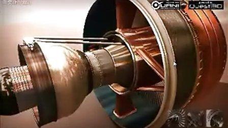 这是飞机发动机,燃气涡轮发动机