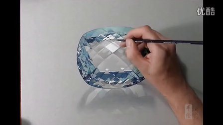 逼真蓝宝石钻戒手绘视频教程