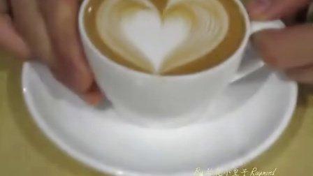 咖啡传媒心形拉花