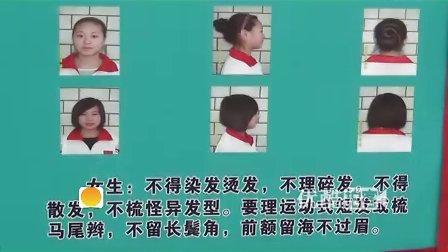 [拍客]实拍学校发布高中生发型标准图片