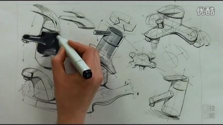 水龍頭結構設計手繪教程