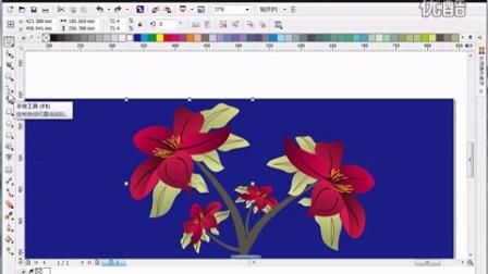 学习coreldraw贝塞尔制作花视频x6案例教程作品cdr x6视频无素材的呦