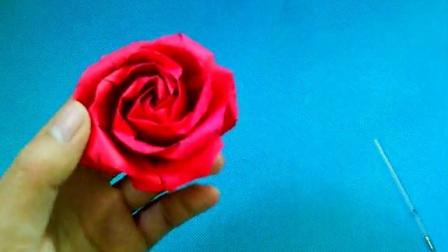 折纸王子教你折酒杯玫瑰花