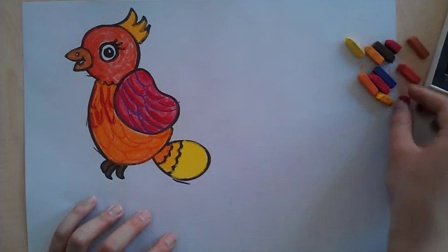 童画画鸟_儿童画画鸟色粉画法