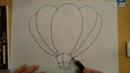 简笔画热气球李老师学画画