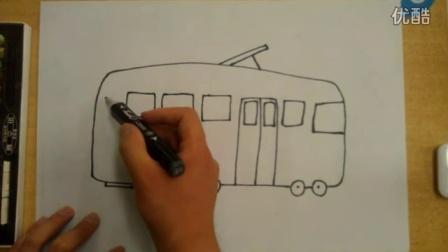 简笔画公交车李老师学画画