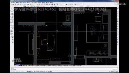 AutoCAD室内设计视频意思-室内设计CAD零基cad楼梯教程线条2中间什么图片