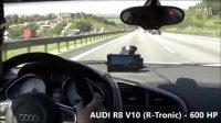 Audi R8 vs 川崎Ninja ZX10R vs 铃木 GSXR1000
