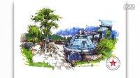 狂人手绘-岑志强马克笔景观设计表现2